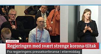 Statsministerens kontor tar selvkritikk etter omstridt mikrofondeling på pressekonferanse