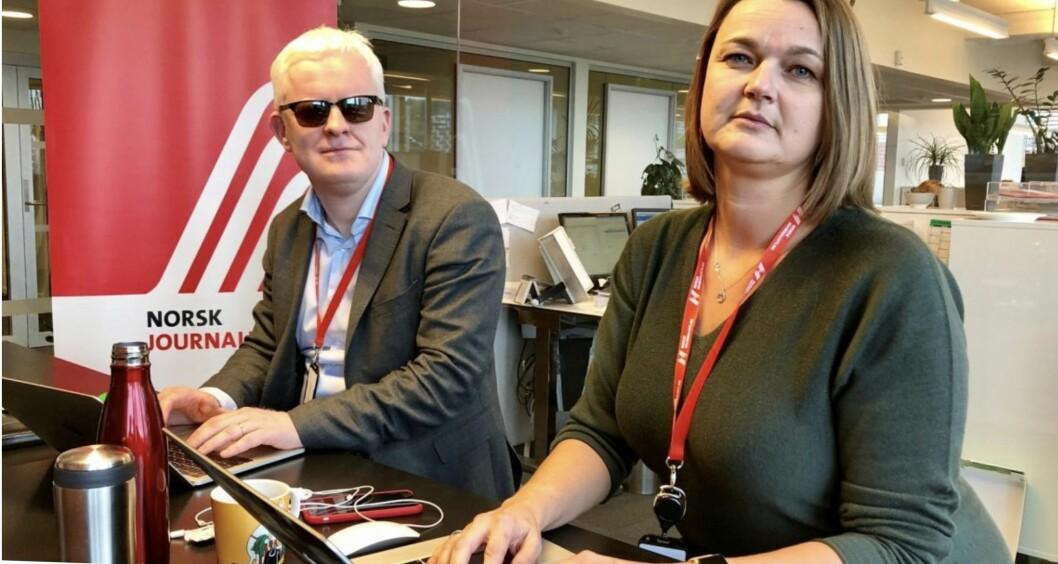 NJs nestleder Dag Idar Tryggestad (til venstre) og leder Hege Iren Frantzen.