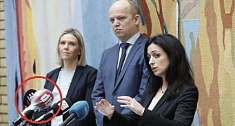 Dagbladet beskyttet mikrofonen med plast: – Vil nok se flere slike tiltak fremover