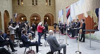 Presselosjen støtter strenge smittetiltak på Stortinget: – Men må ikke bli for inngripende