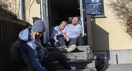 P3-paret Tuva og Ronny lager karantene-podkast fra kjøkkenbordet