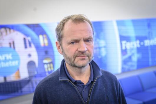 Redaktør for Nyhetsdivisjonen, Knut Magnus Berge, i NRK.