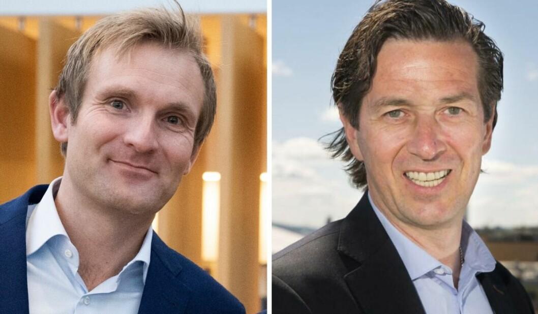 Christian Haneborg ogBjørn Gunnar Rosvoll i Schibsted og TV 2.
