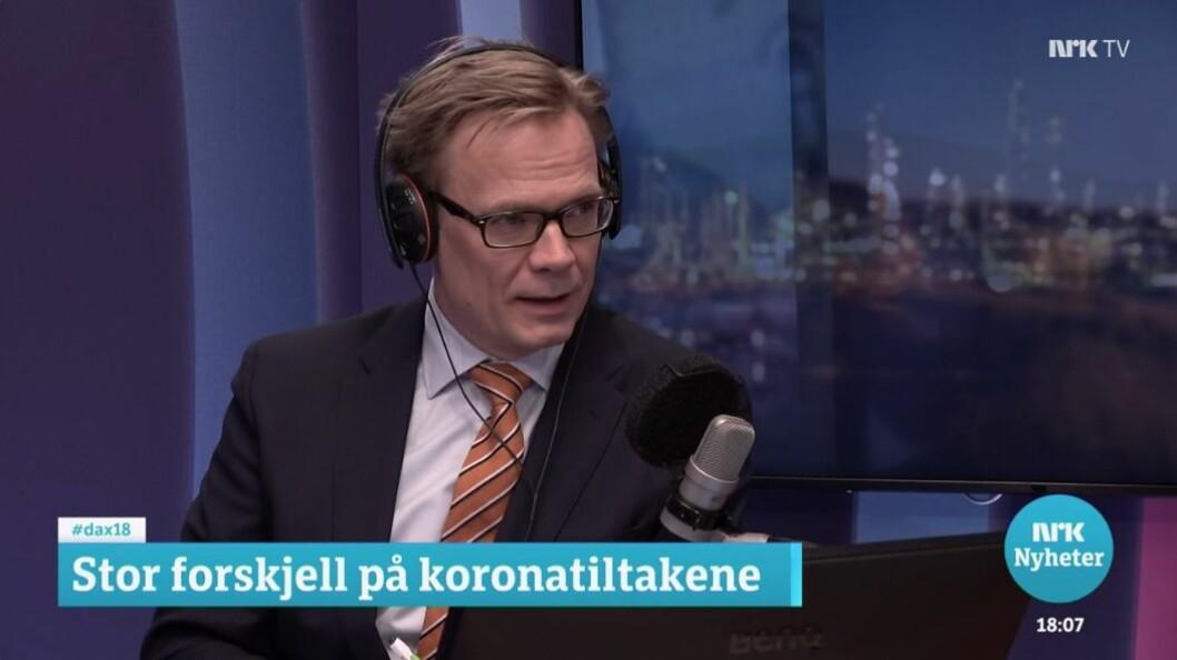 Dagsnytt 18, her ved programleiar Espen Aas.