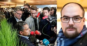 Journalister permitteres når de trengs som mest og medier blør. Nå er det alvor, medieminister Abid Raja