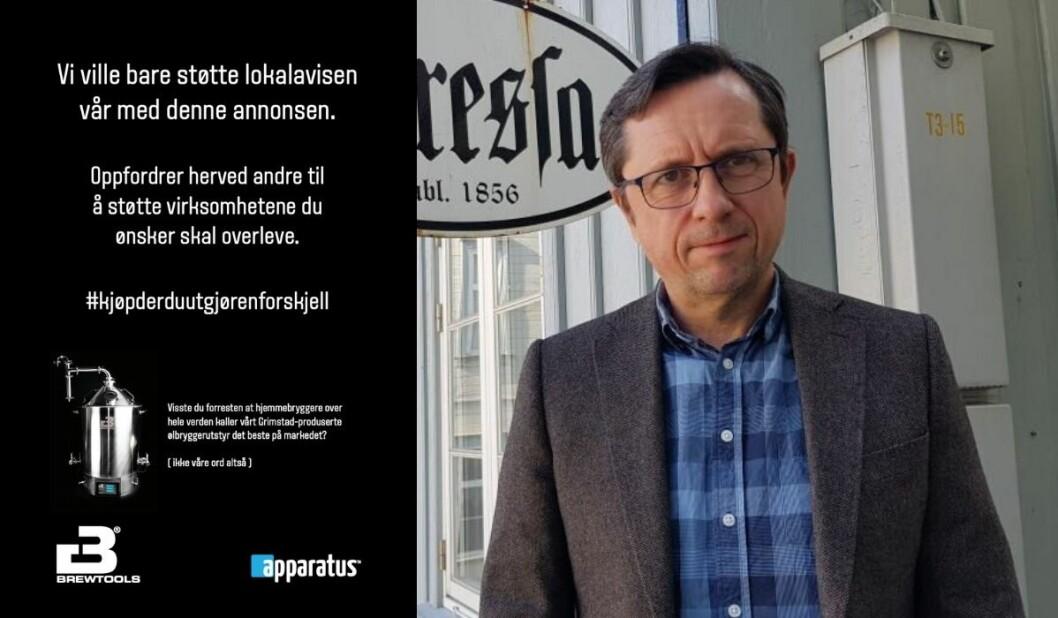 Redaktør Peer Andreassen er glad for oppfordringen fra Apparatus-gjengen.