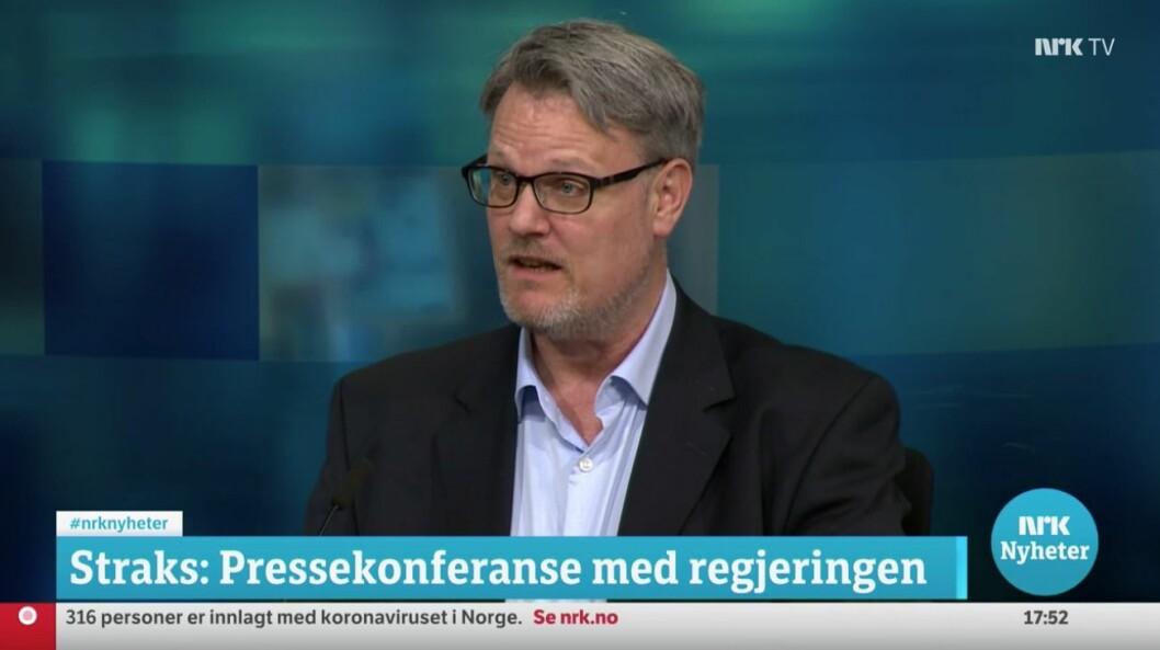 NRK-journalist Hallvard Sandberg.