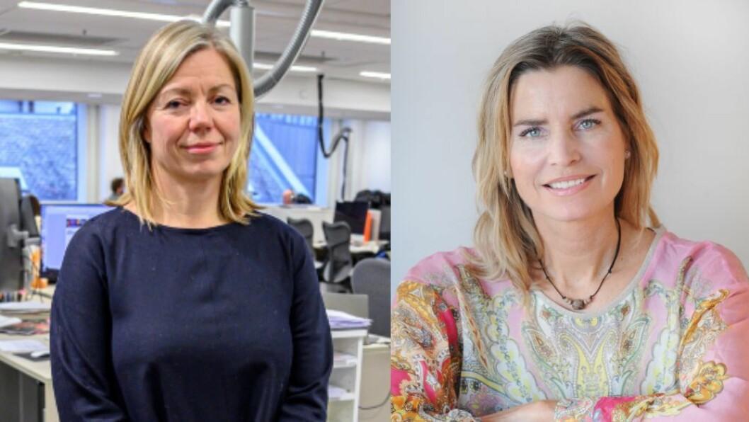 Sjefredaktør Trine Eilertsen i Aftenposten og redaktør og gründer Julia Schreiner Benito i helsenettstedet Caluna.