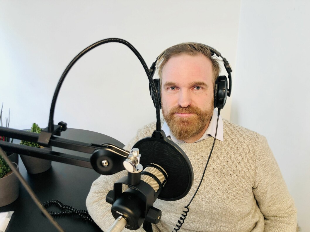 Journalist og forfatter Erik Martiniussen i Pressepodden.