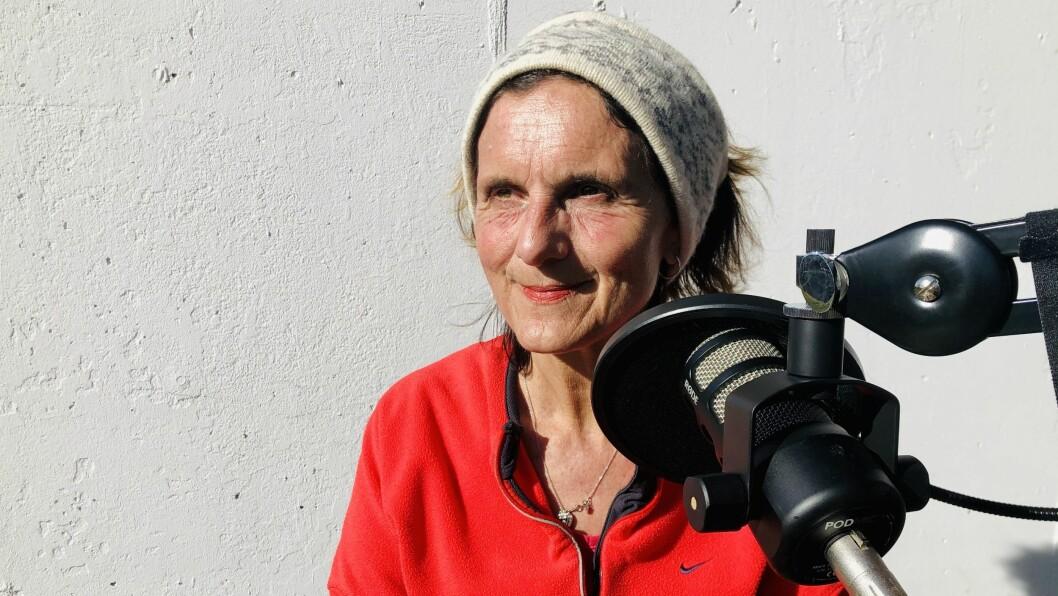 NRK-korrespondent Sidsel Wold. Her fra innspilling av Pressepodden.