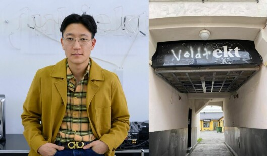 Dette synet møtte redaktør Danby Choi da han ankom sine egne lokaler etter å ha stilt opp i en VG-sak.