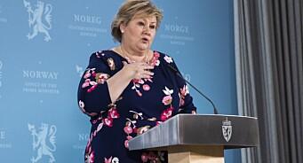 Erna Solberg ut mot Dagbladet