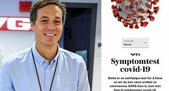 VG og Schibsted lanserer symptomtest på korona - på ni språk: – Et lite bidrag til den store dugnaden