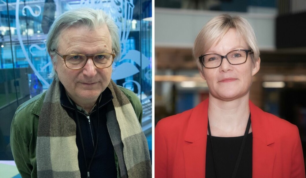Per Christian Magnus og Kristine Holmelid hos Senter for undersøkende journalistikk (SUJO).