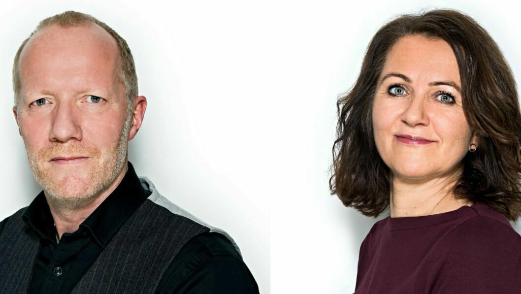 Generalsekretær Arne Jensen og assisterende generalsekretær Reidun Kjelling Nybø i Norsk Redaktørforening.
