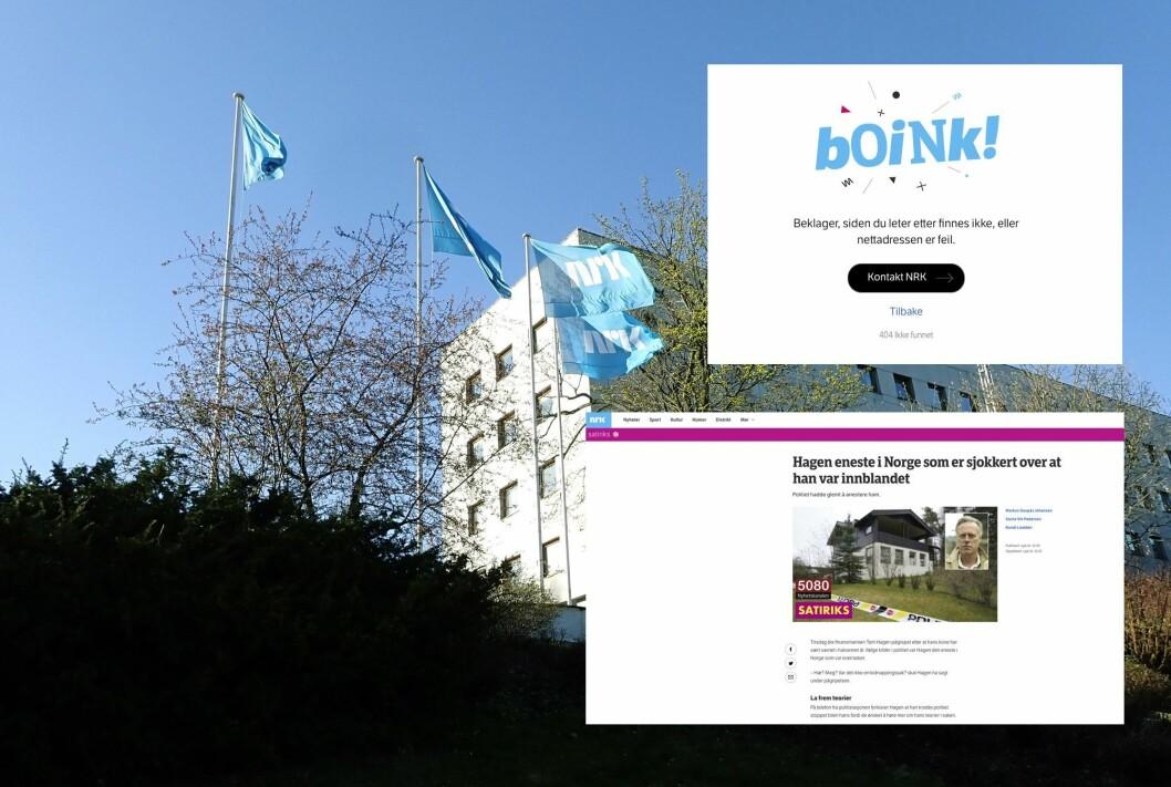 NRK slettet satirisk artikkel fra NRK Satiriks om Hagen-forsvinningen.