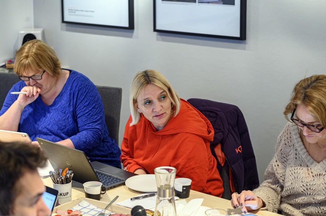 ARKIVFOTO:Elin Floberghagen (fra venstre), Nina Fjeldheim og Kristin Taraldsrud Hoff i PFU-møtet 29. januar.