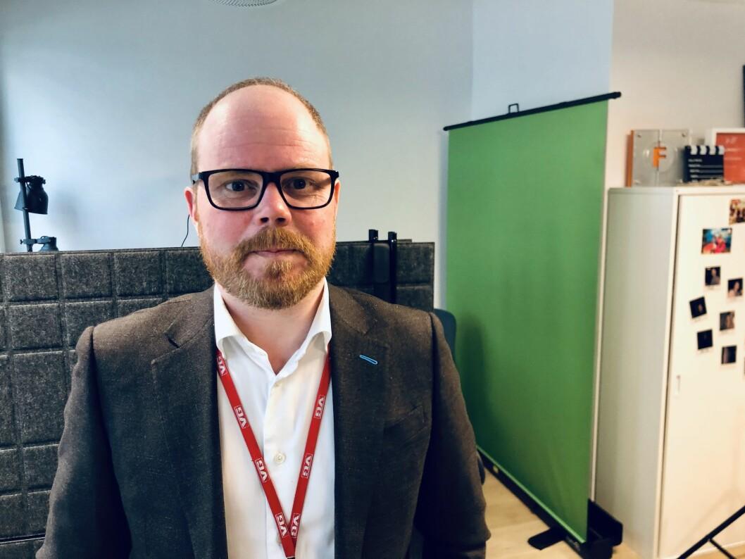 Sjefredaktør Gard Steiro i VG. Her fra da vi spilte inn Pressepodden 29. april 2020.