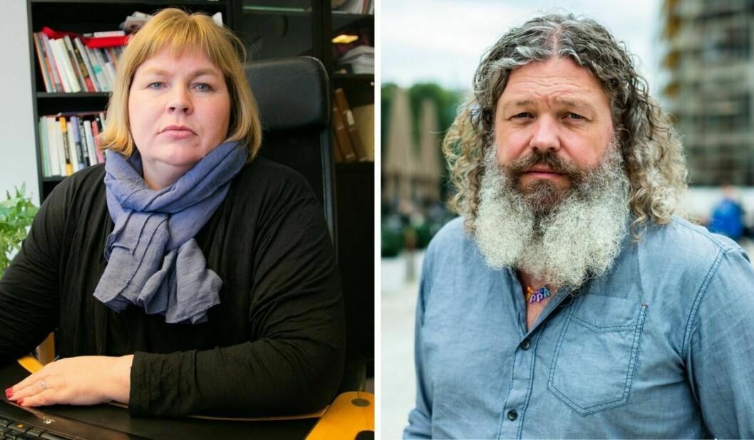 Generalsekretær Elin Floberghagen i Norsk Presseforbund og it-ekspert Torgeir Waterhouse i rådgjevingsselskapet Otte.