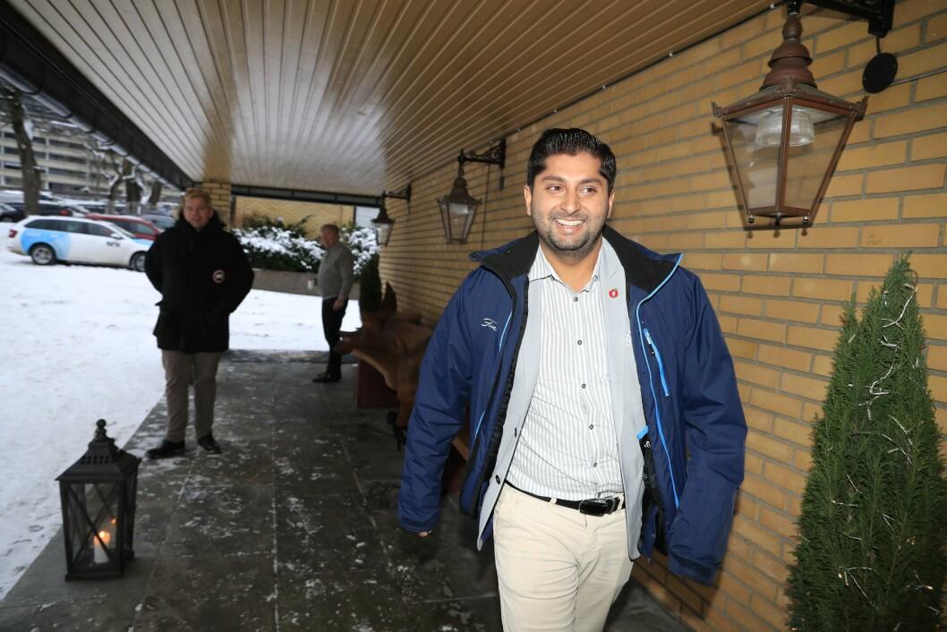 Himanshu Gulati ankommer landsstyret i FrP. Her fra en tidligere anledning. Foto: Torstein Bøe / NTB scanpix