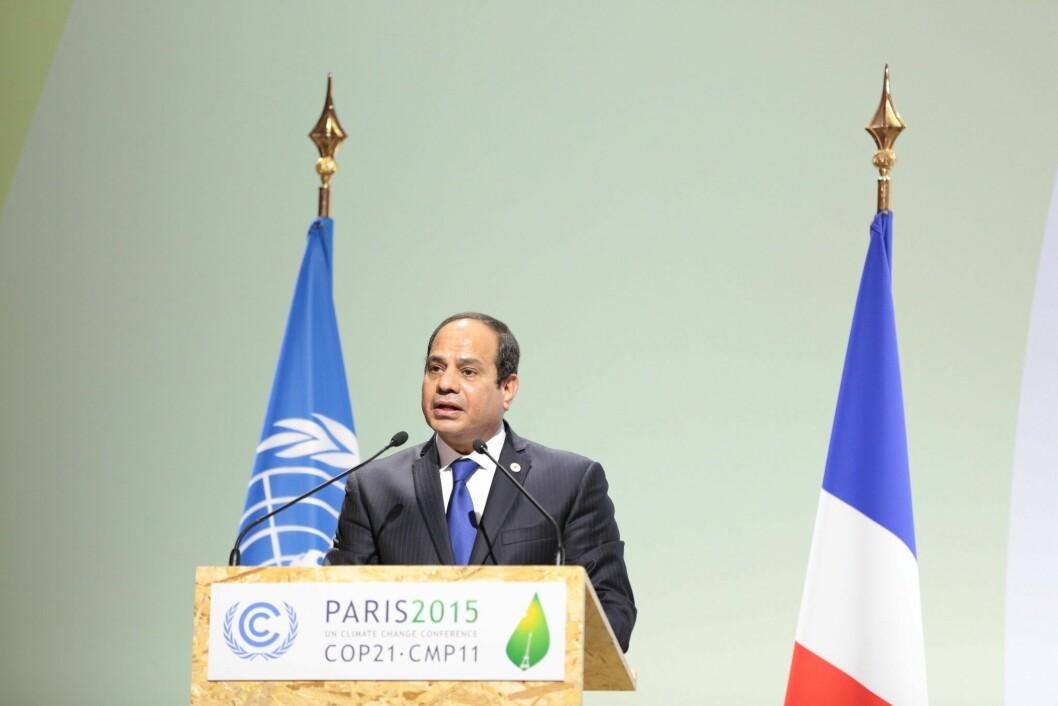 President Abdel Fattah el-Sisi i Egypt.