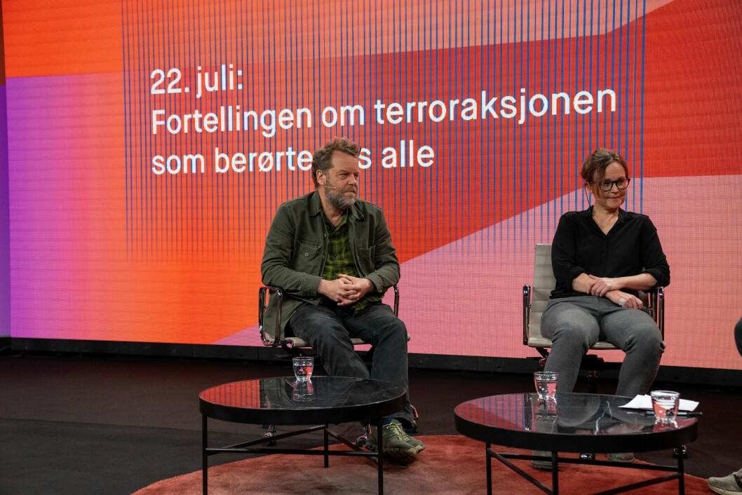 Fotellingen om terroraksjonen som berørte oss alle: filmregissørene Pål Sletaune, Sara Johnsen.