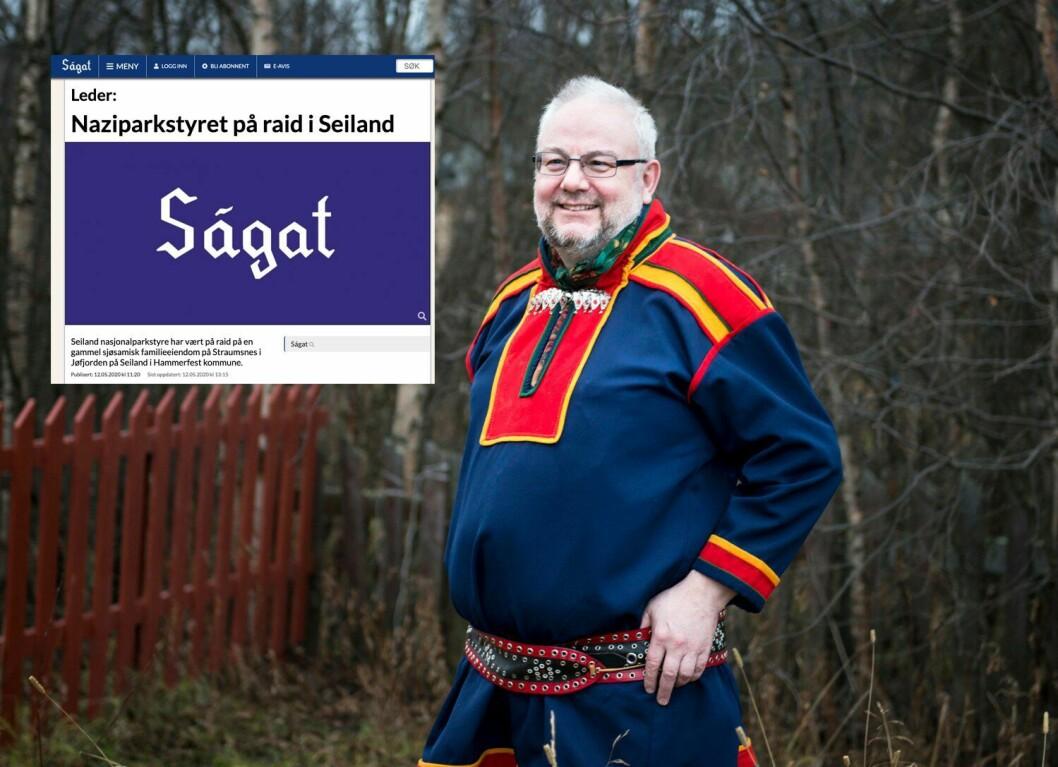 Geir Wulff, redaktør og daglig leder i Ságat.