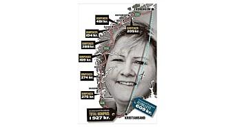 Nei, dette VG-kartet viser ikke hva du må betale i bompenger på norgesferie
