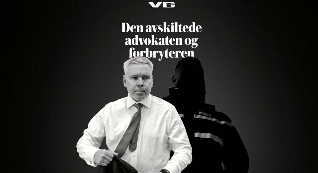 «Den avskiltede advokaten og forbryteren», VG-artikkel 16. mai.