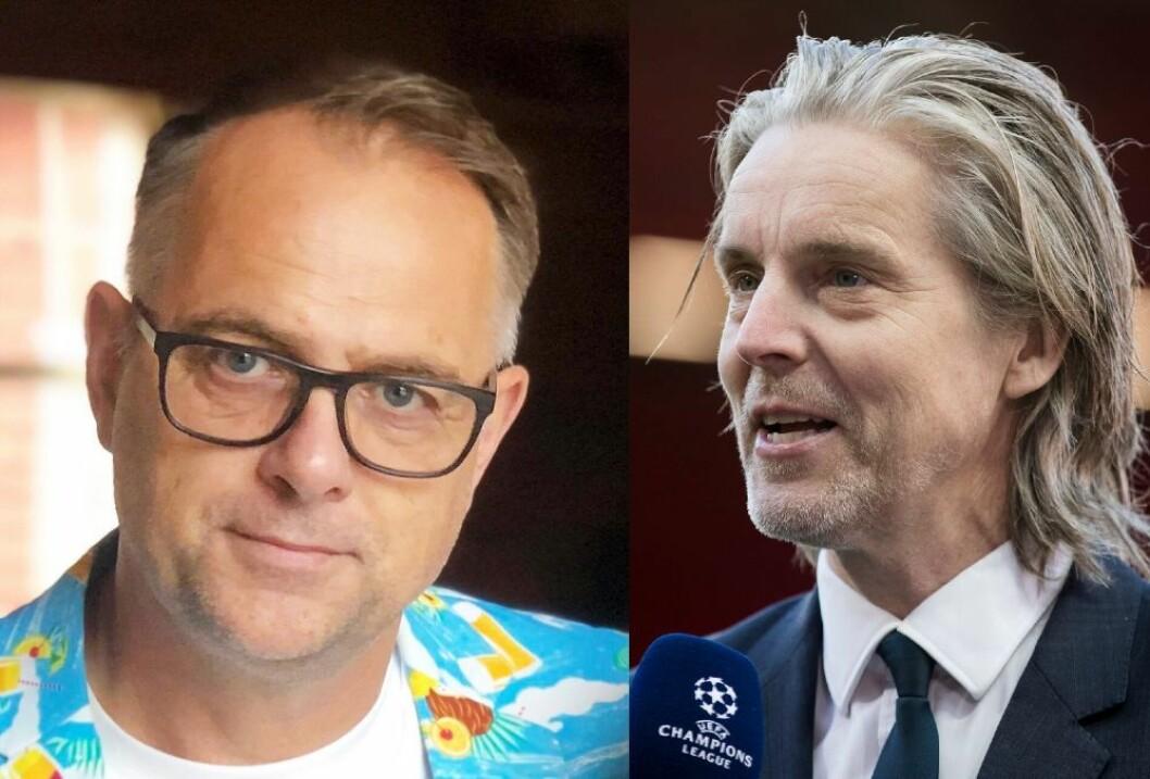Frilansjournalist Lasse Olsrud Evensen og reporter Jan Åge Fjørtoft i Viasat/NENT