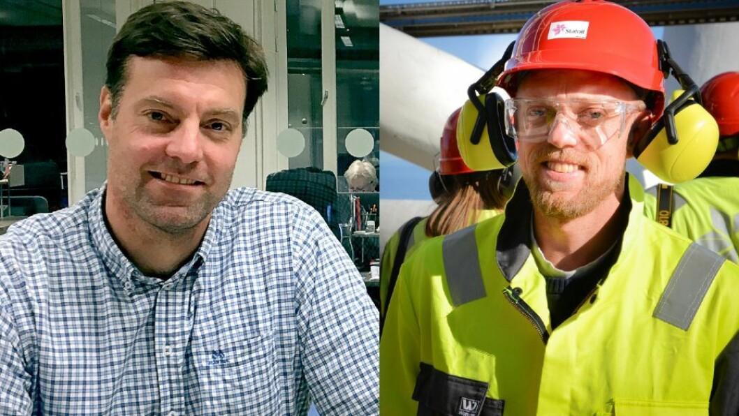 Ansvarlig redaktør Anders Lie Brenna og ansvarlig redaktør Glenn Stangeland i Energi24.