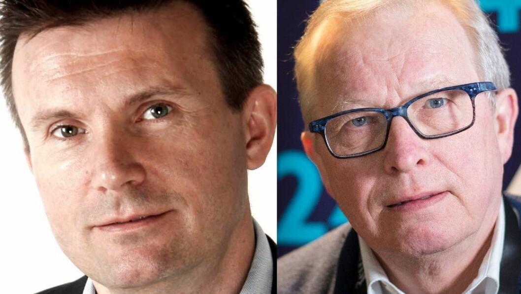 STÅLE LINDBLAD, gründer og rådgiver på sosiale medier og mediekritiker, pressenestor og tidligere sjefredaktør Bernt Olufsen.