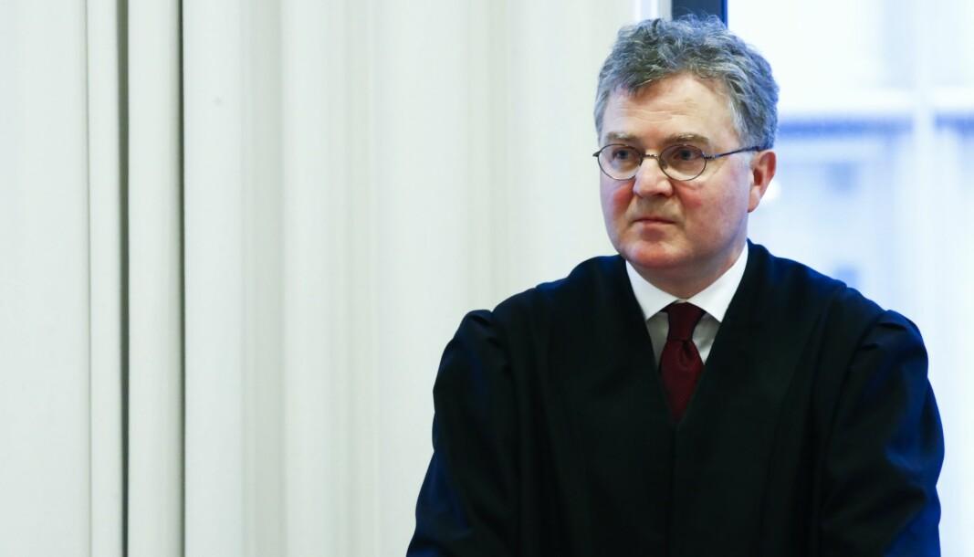 Advokat Halvard Helle representerer VG i saken mot Riksadvokaten over innsyn i den såkalte Welhaven-saken. Her avbildet i retten ved en annen anledning.