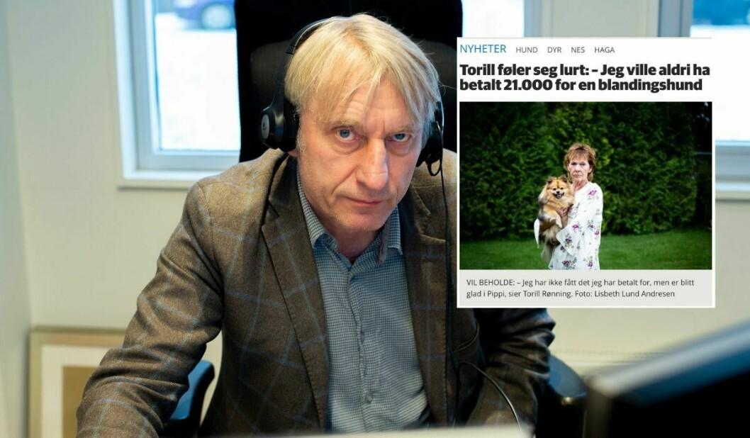 Redaktør Magne Storedal i Romerikes Blad. Artikkelen innfelt.