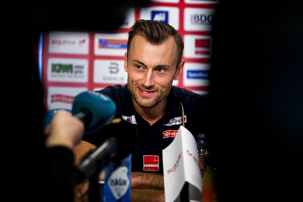 Petter Northug, her fra pressekonferansen hvor han fortalte at han legger opp som langrennsutøver.Foto: Ole Martin Wold / NTB scanpix