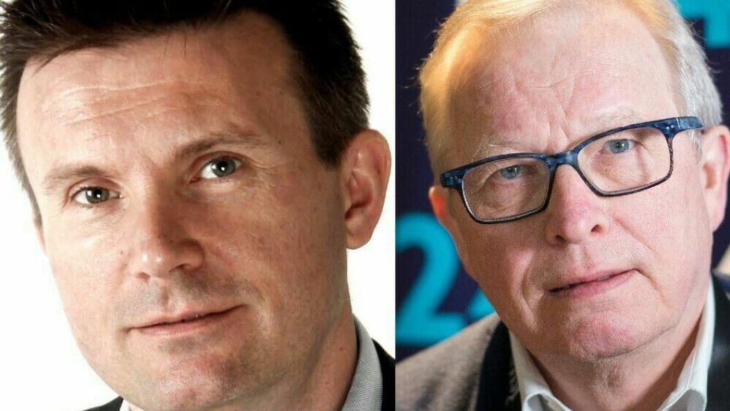 SoMe-rådgiver Ståle Lindblad og mediekritiker Bernt Olufsen.