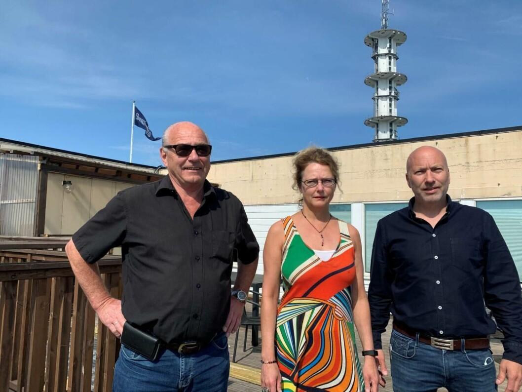 Jens, Nina og Reidar Hystad, som solgte majoriteten av Sunnhordland til Polaris Media.