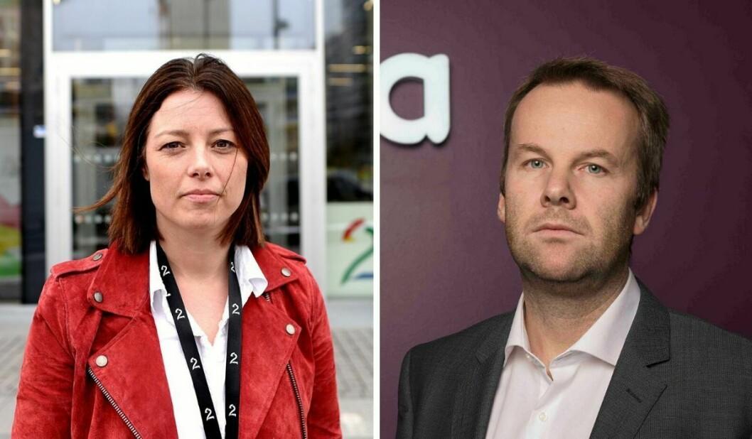 Sarah Willand (til venstre) og TV 2 og Henning Lunde og Telia skal være nå være enige om en ny avtale.
