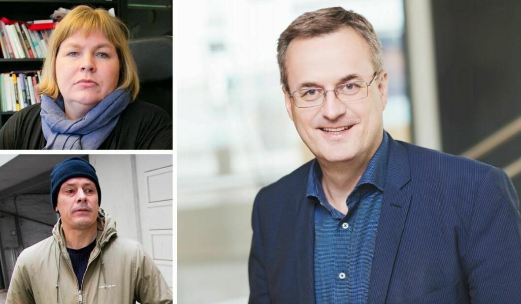 Generalsekretær Elin Floberghagen i Norsk Presseforbund, Josimar-redaktør Håvard Melnæs og administrerande direktør Per Brikt Olsen i Fagpressen.