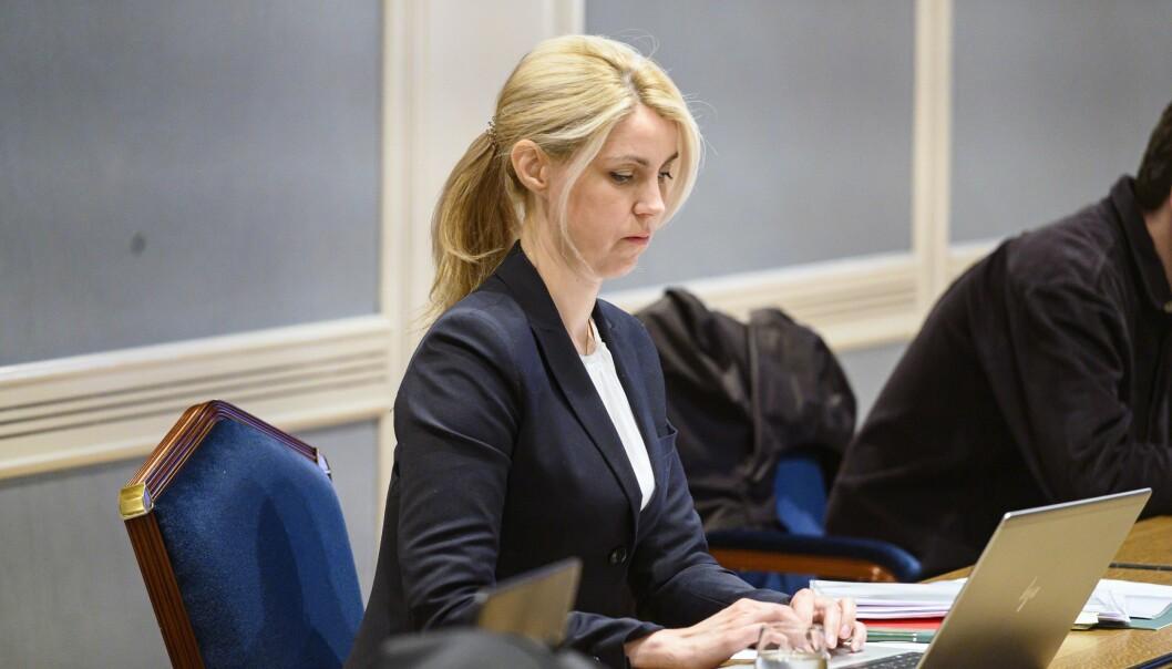 Dagbladet-redaktør Alexandra Beverfjord avbildet under den aktuelle rettssaken i Oslo tingrett i fjor sommer.