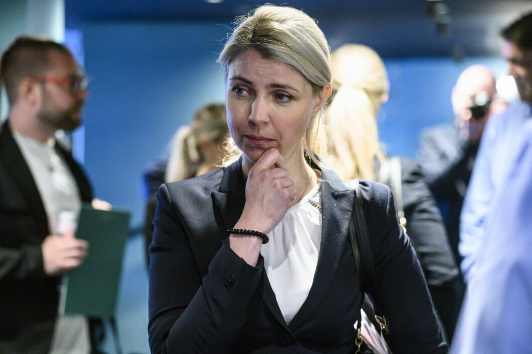 Dagbladets ansvarlige redaktør og administrerende direktør Alexandra Beverfjord utenfor rettssalen.