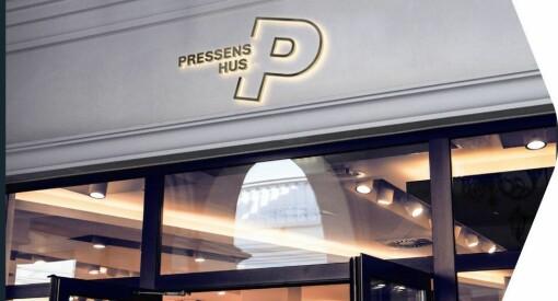Dette er logoen til det nye Pressens hus