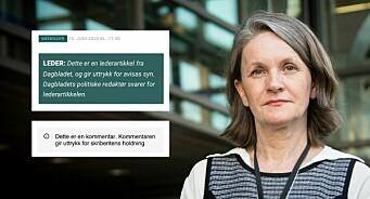 Derfor dobbeltmerker VG og Dagbladet alle debattinnlegg: – Særlig viktig i en tid som denne
