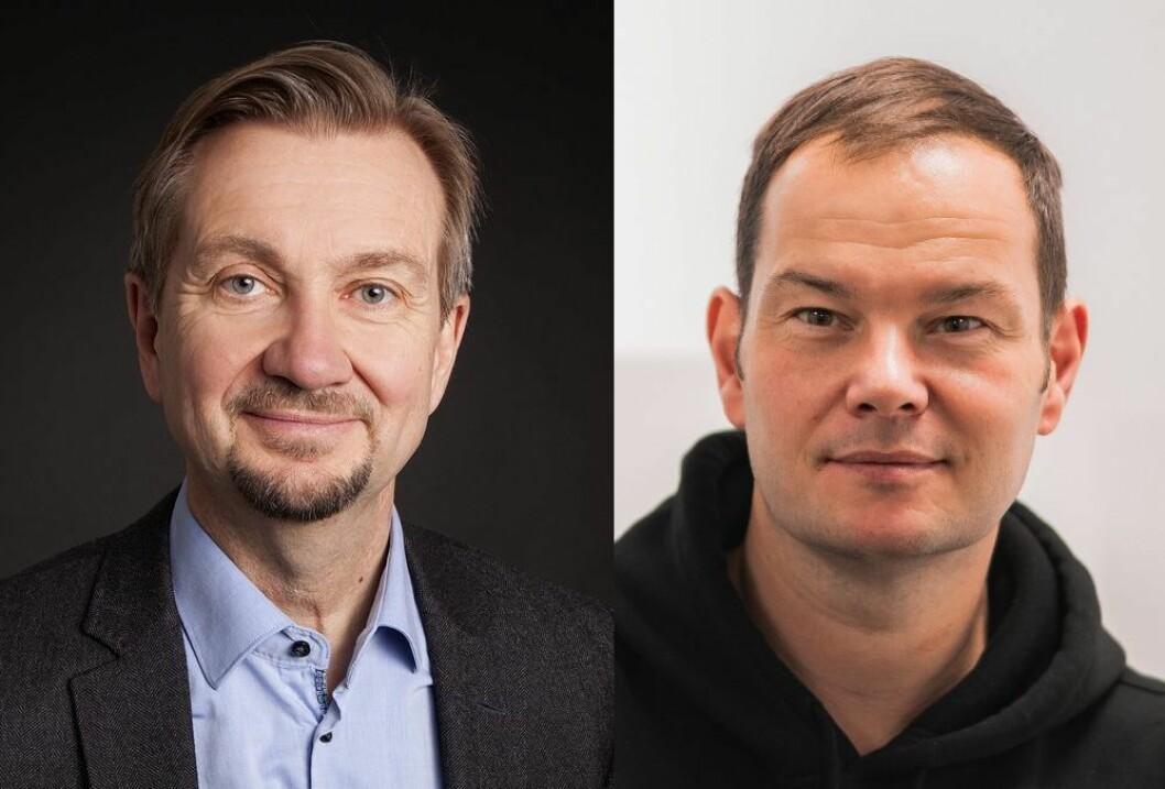 Mediekritiker Trygve Aas Olsen og høyskolelektor Jon Martin Larsen.