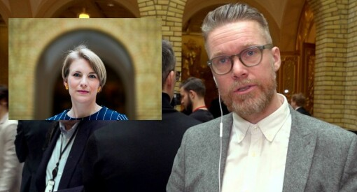 Færre kvinnelige journalister i Presselosjen på Stortinget: Antallet menn er stadig dominerende