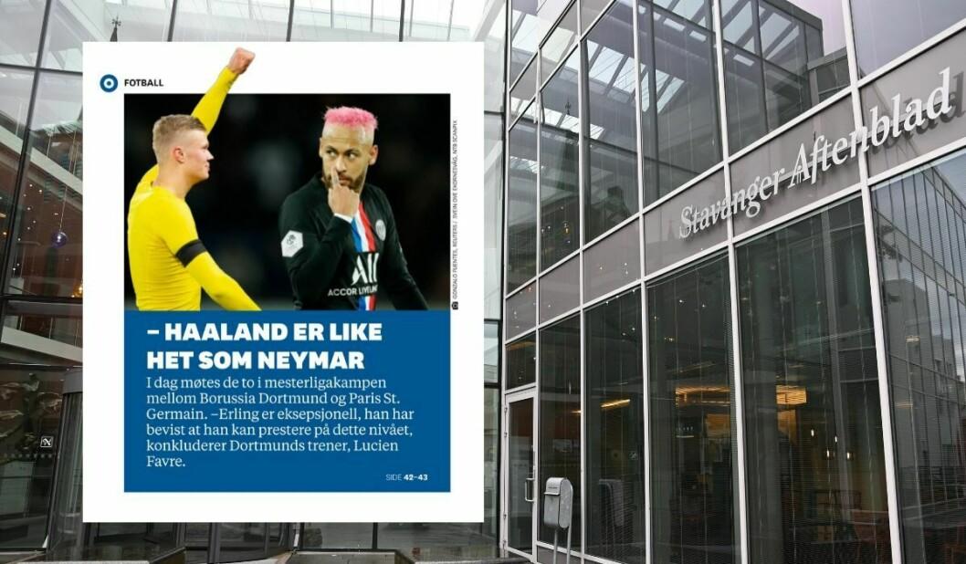 Dette bildet (innfelt) fra Stavanger Aftenblad i februar er klaget inn til PFU.