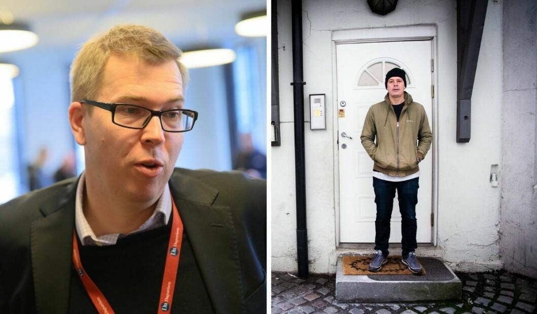Styreleiar Eirik Hoff Lysholm i Norsk Presseforbund og Josimar-redaktør Håvard Melnæs.