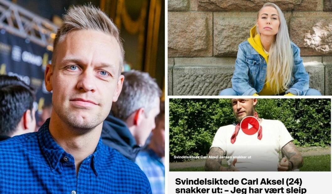 VGTV-profil Mads Hansen, Ingeborg Senneset i Aftenposten og TV 2-reportasjen med artist Carl Aksel Jansen.