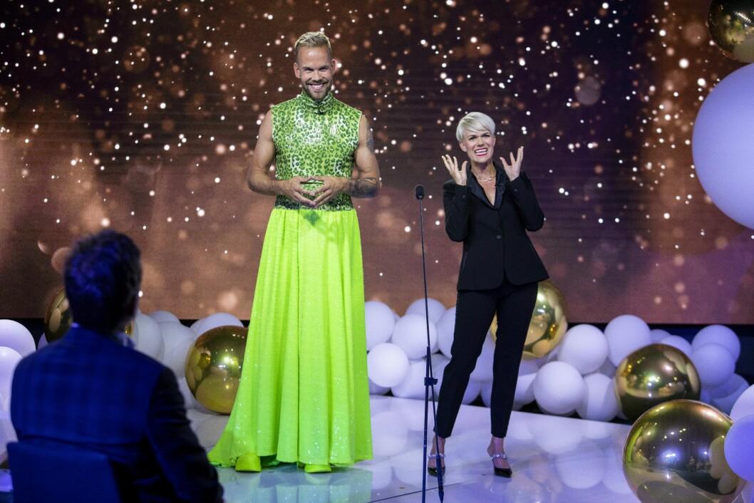 Programlederne Morten Hegseth og Sigrid Bonde Tusvik under Gullruten 2020.