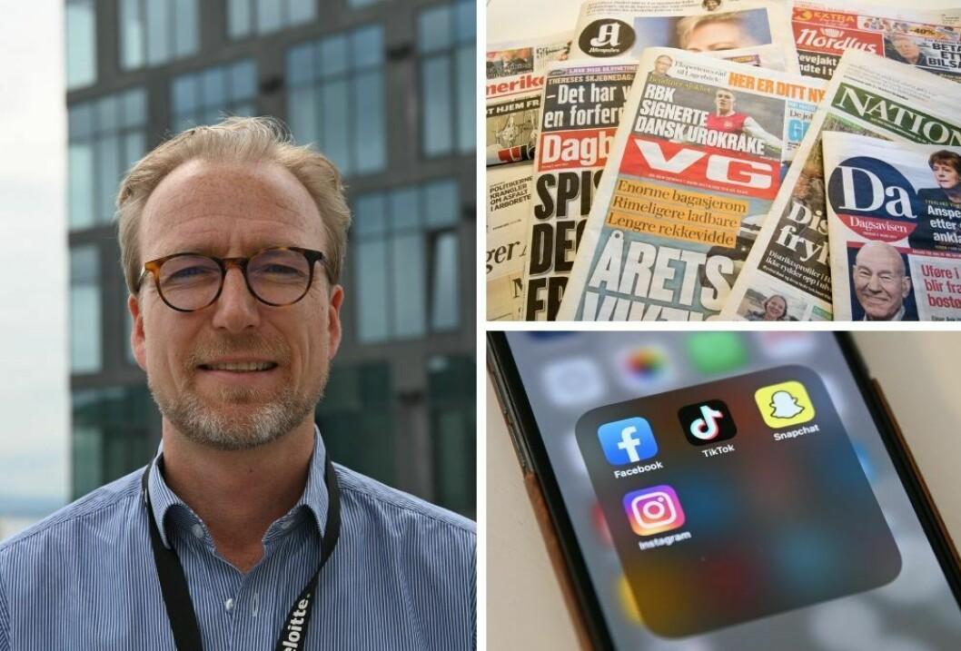 Joachim Gullaksen i Deloitte forteller om nordmenns medievaner. (Foto: Ingvild Fylling / Ole Alexander Saue / Terje Bendiksby / NTB scanpix).